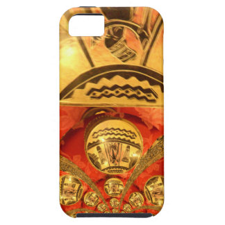 Golden red African traditional art iPhone SE/5/5s Case