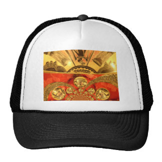 Golden red African traditional art Trucker Hat