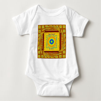 Golden Red African Traditional Color Baby Bodysuit