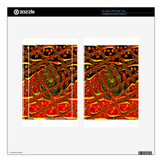 Golden red African Traditional Color.png Decal For Kindle Fire