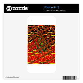 Golden red African Traditional Color.png iPhone 4 Skins