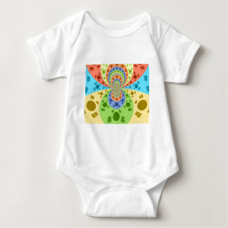 Golden Red African Traditional Colors Baby Bodysuit