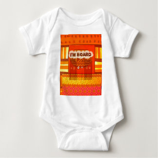 Golden Red African Traditional Colors Funny Am bor Baby Bodysuit