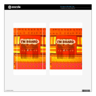 Golden Red African Traditional Colors Funny Am bor Kindle Fire Decals