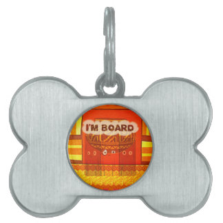 Golden Red African Traditional Colors Funny Am bor Pet Name Tag