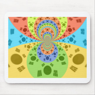 Golden Red African Traditional Colors Mouse Pad