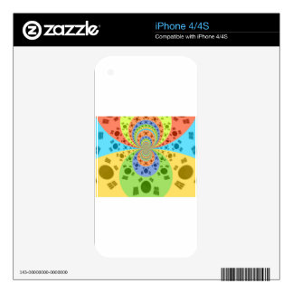 Golden Red African Traditional Colors Skin For The iPhone 4S