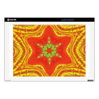 Golden red African Traditional colors Skins For Laptops