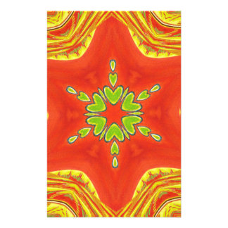 Golden red African Traditional colors Stationery