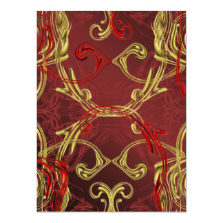 golden, red and black shiny festive colored card