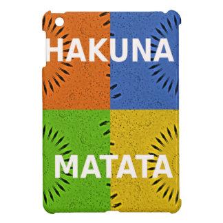 Golden Red Blue Green Hakuna Matata iPad Mini Cases