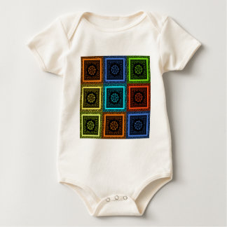 Golden Red blue Green Masai Traditional colors Baby Bodysuit