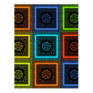 Golden Red blue Green Masai Traditional colors Postcard
