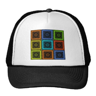Golden Red blue Green Masai Traditional colors Trucker Hat