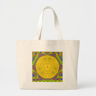 Golden Red Blue Green Royal Egyptian. Large Tote Bag