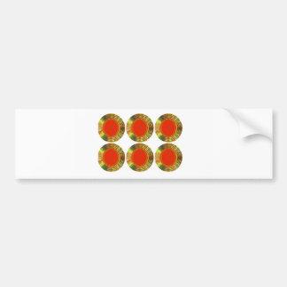 Golden RED Circles: Energy HEALING Decorative GIFT Bumper Sticker