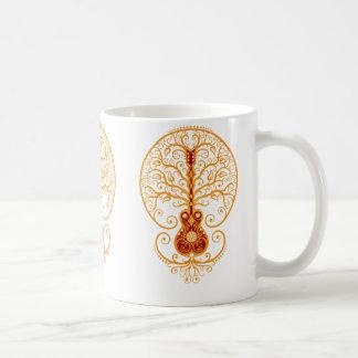 Golden Red Guitar Tree of Life Coffee Mug