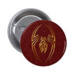 Golden Red Iron Spider 2 Inch Round Button