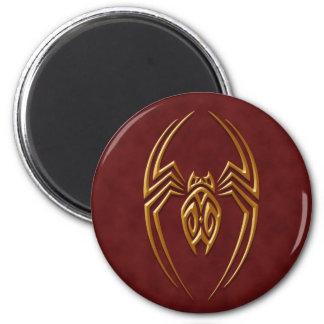 Golden Red Iron Spider Refrigerator Magnets