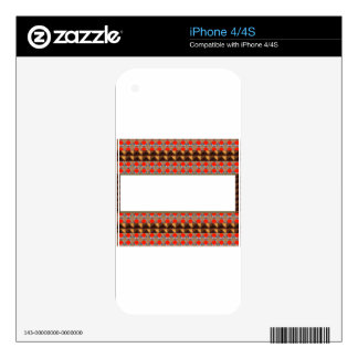 Golden RED Jewel Border: Add GREETING Text r Image iPhone 4S Skins