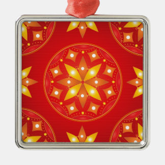 Golden Red Metal Ornament