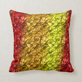 Golden-red mineral style  Pillow