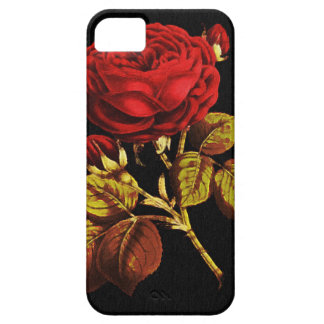 Golden Red Painted Rose iPhone SE/5/5s Case