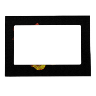 Golden Red Painted Rose Magnetic Photo Frame
