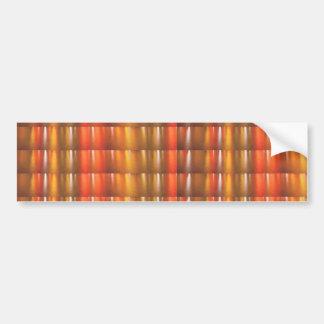 Golden Red Sparkle Shades - ColorCraft Car Bumper Sticker