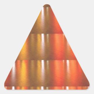 Golden Red Sparkle Shades - ColorCraft Triangle Sticker