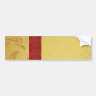 Golden red sticker car bumper sticker
