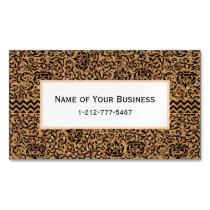 Golden Renaissance Tudor Gardens Damask Floral Magnetic Business Card