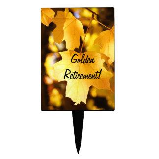 Golden Retirement cake picks Dessert Topper Retire
