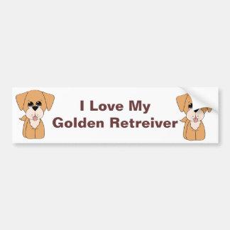 Golden Retreiver Bumper Sticker