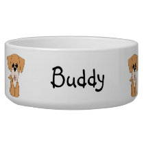 Golden Retreiver Dog Bowl