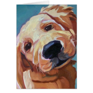 Golden Retrieve Puppy Greeting Card
