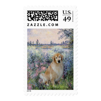 Golden Retriever10 - By the Seine Stamps