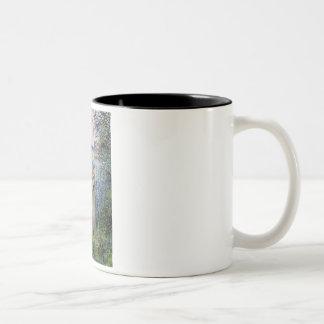 Golden Retriever10 - By the Seine Two-Tone Coffee Mug