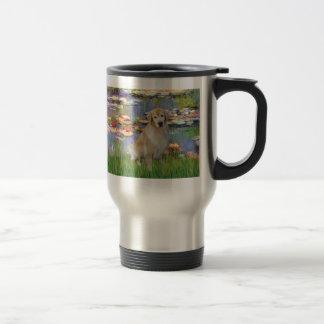 Golden Retriever #10 - Lilies #2 Travel Mug