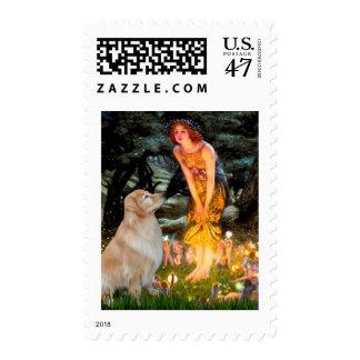 Golden Retriever 11 - Mid Eve Postage Stamp