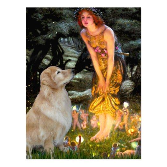 Golden Retriever 11 - Mid Eve Postcard