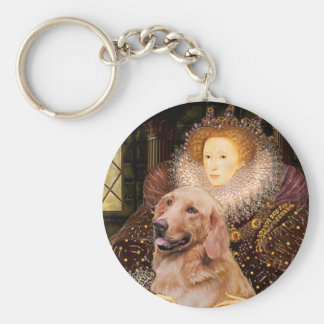 Golden Retriever #1 - Queen Elizabeth I Keychain