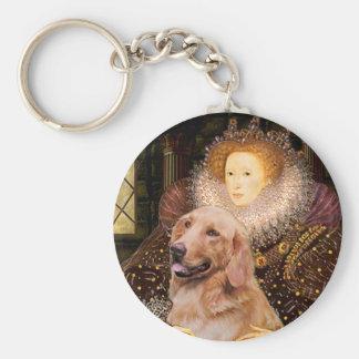 Golden Retriever #1 - Queen Elizabeth I Keychains