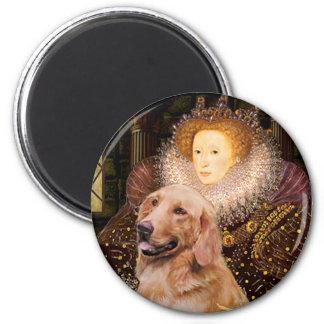 Golden Retriever 1 - Queen Elizabeth I Refrigerator Magnet