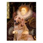 Golden Retriever #1 - Queen Elizabeth I Post Card