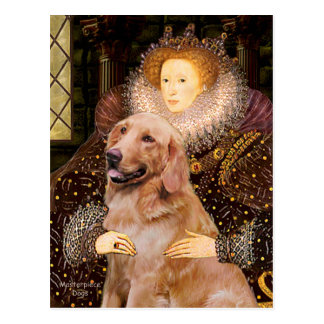 Golden Retriever #1 - Queen Elizabeth I Postcard
