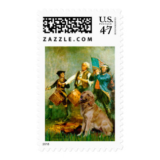 Golden Retriever 1 - Spirit of '76 Stamp