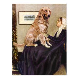Golden Retriever 1 - Whistler's Mother Postcard