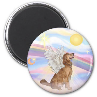 Golden Retriever 2 Inch Round Magnet