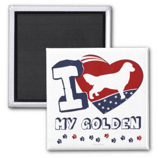 Golden Retriever 2 Inch Square Magnet